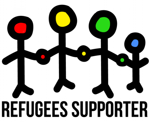 Refugees Supporter Logo von www.eric-large.de