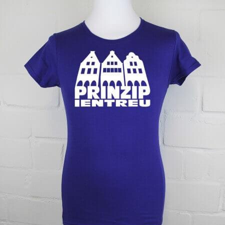 Heimat Shirt Münster Prinzipalmarkt Damen cobalt