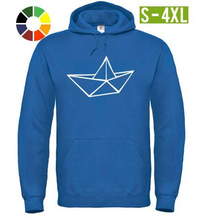 hoodie eric large leichtmatrose blau