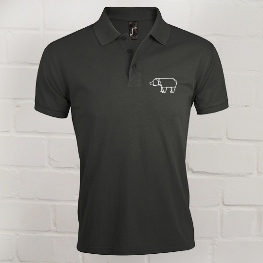 Herren Prime Polo Eric Large charcoal