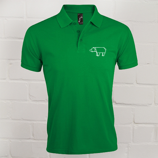 Herren Prime Polo Eric Large kelly green