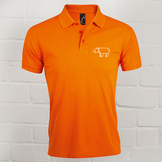 Herren Prime Polo Eric Large orange