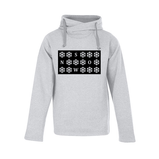 Heather Hoody Snow heather grey