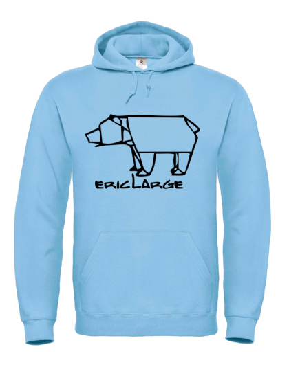 oversize hoodie eric large light blue