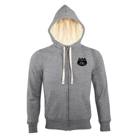 Zip Hoodie Münster Love - heather grey