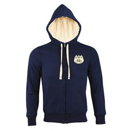 Zip Hoodie Münster Love - navy blue