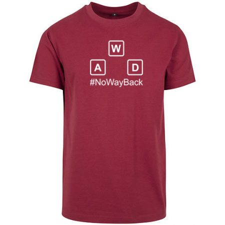 T-Shirt no way back burgundy
