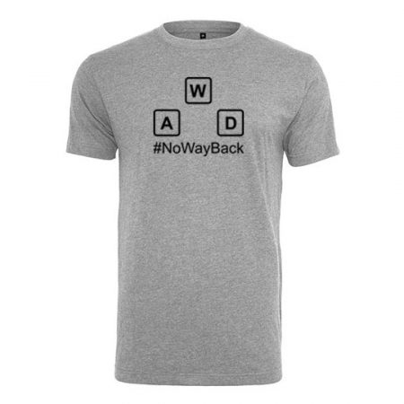 T-Shirt no way back heather grey
