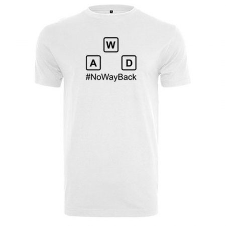T-Shirt no way back weiß