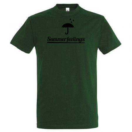 T-Shirt summerfeelings bottle green mit schwarzem Aufdruck