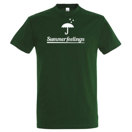 T-Shirt summerfeelings bottle green mit weißem Aufdruck