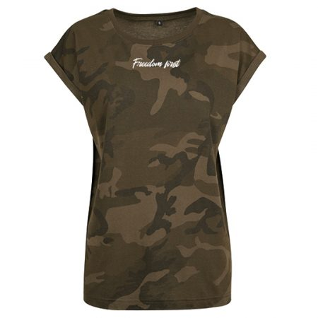 T-Shirt olive camouflage freedom first